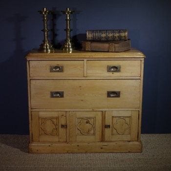 Charming 19th Century Pine Chapel Cupboard-SOLD