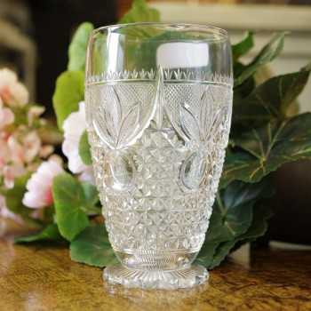 Late 19th Century Cut glass Vase