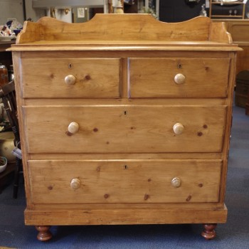 Galleried Pine Chest of Drawers