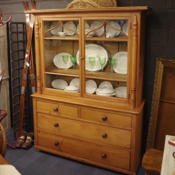 SOLD-Glazed Pine Cornish Dresser