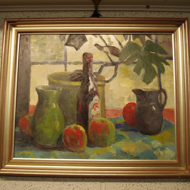 Apples & Jars- Oil on board