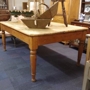 SOLD-Antique Pine Farmhouse Table