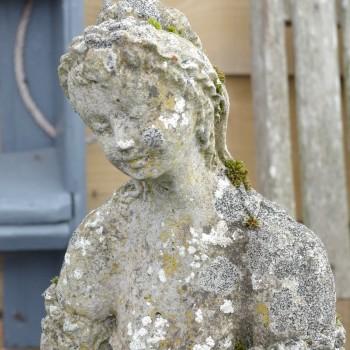 SOLD-Vintage Maiden Statue