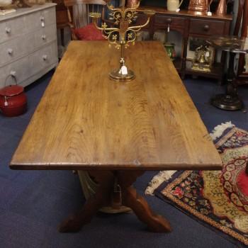 SOLD-Vintage Oak Dining Table