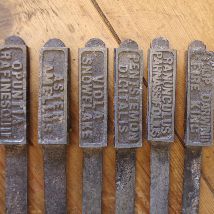Vintage Zinc Plant Markers