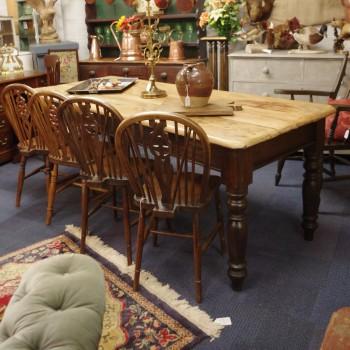 SOLD--Antique Pine Farmhouse Table