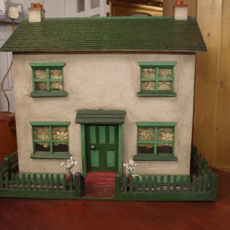 SOLD-Folk Art Dolls House
