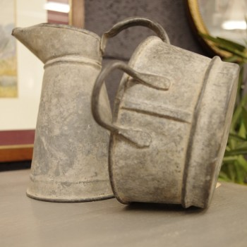 Galvanised Pitcher and Tub