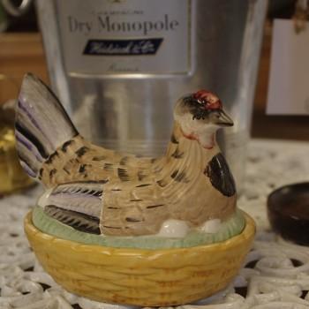 SOLD-Victorian Staffordshire Hen