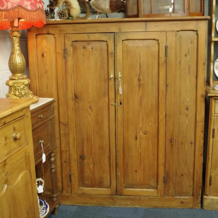 Antique Pine School Cupboard