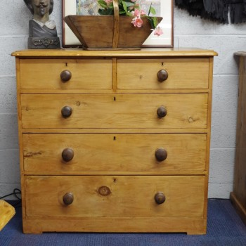 SOLD-Antique Pine Chest of Drawers