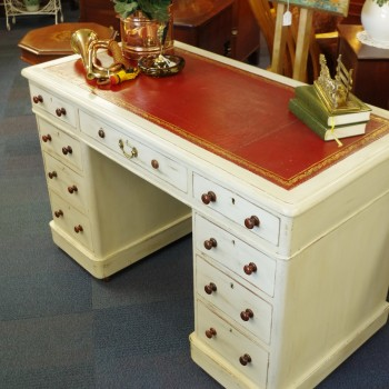 SOLD-Victorian Pedestal Desk