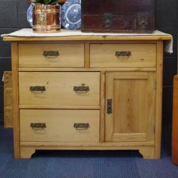 SOLD-Antique Pine Base Cupboard