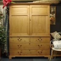 Superb Pine Press Cupboard