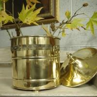 RESERVED-Brass Coal Bucket