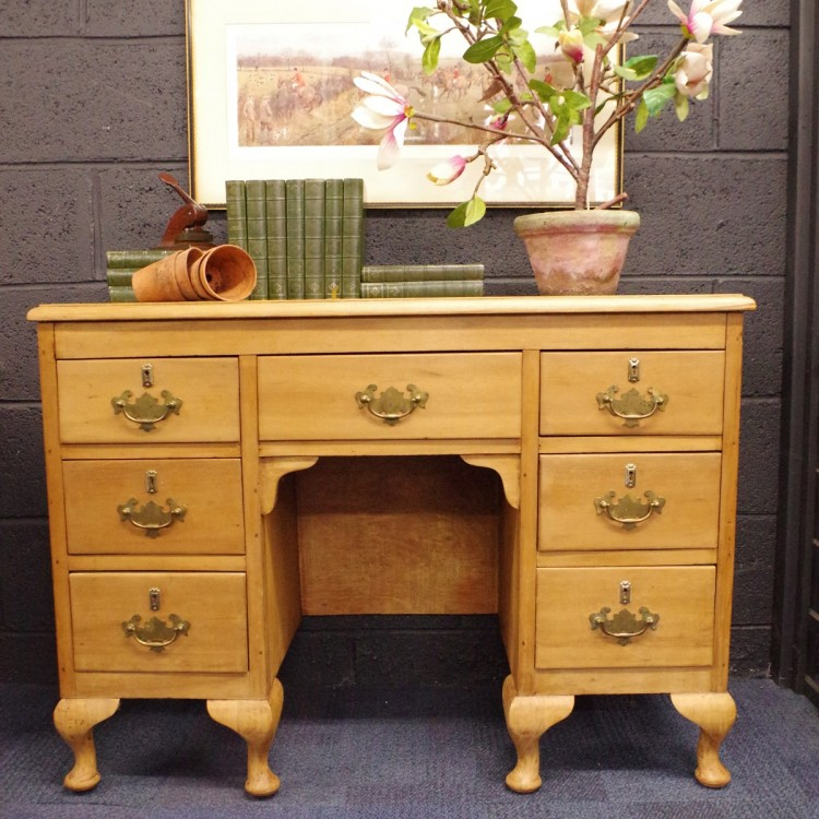 SOLD-Satinwood Lamp Table