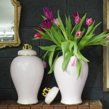 Pair French Limoges Vases