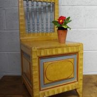 Scumbled Pine Box Chair