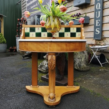 SOLD-Marble topped Washstand